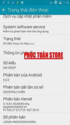 Rom Galaxy S6 G920F copy mt6572 alt