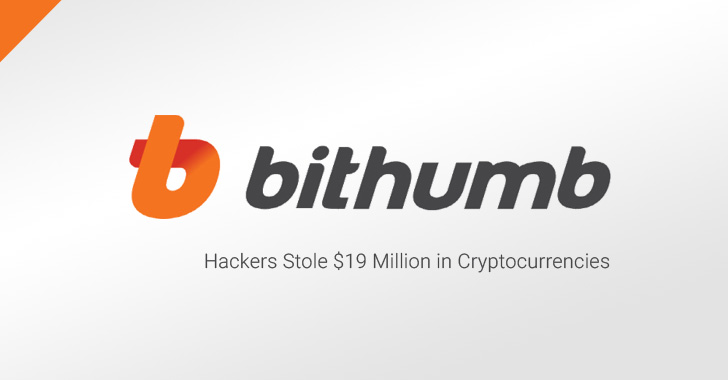 Hackers Steal $19 Million From Bithumb Cryptocurrency Exchange