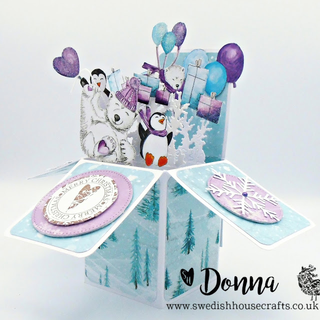 Arctic Sweeties Pop Up Box Card | By Donna