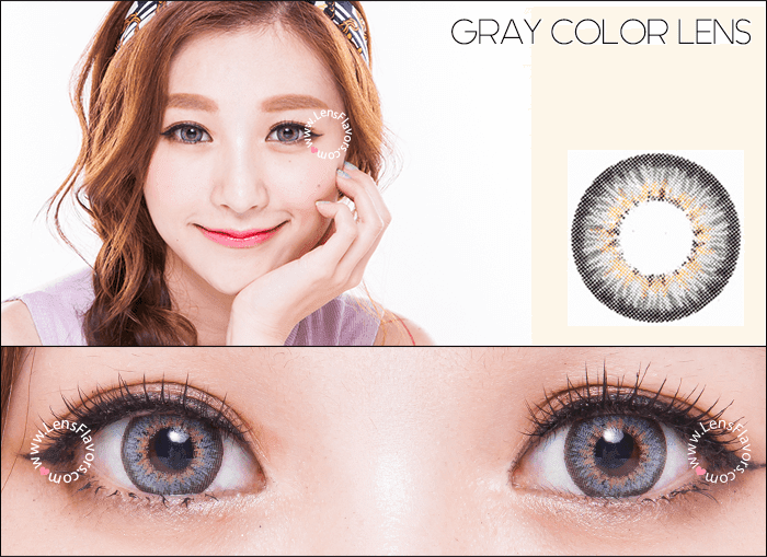 gg shinny gray circle lenses