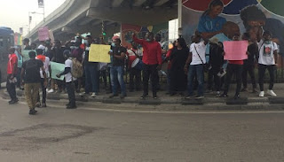 PICTURES: #EndSARS protest takes off in Lagos