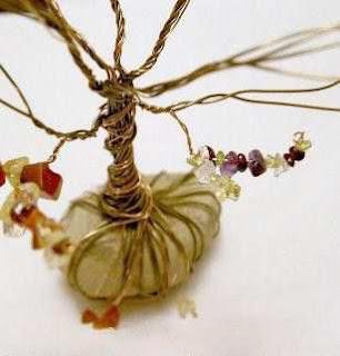 Cara Membuat Kerajinan Tangan Yang Mudah, Pohon Manik-manik 5