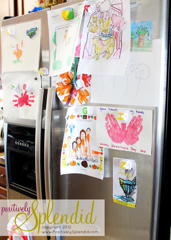 Magnetic Refrigerator Art Frames Positively Splendid