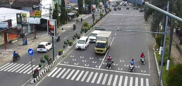 RHK Berbasis Physical Distancing di Sejumlah Persimpangan Kota Kediri Mulai Diterapkan