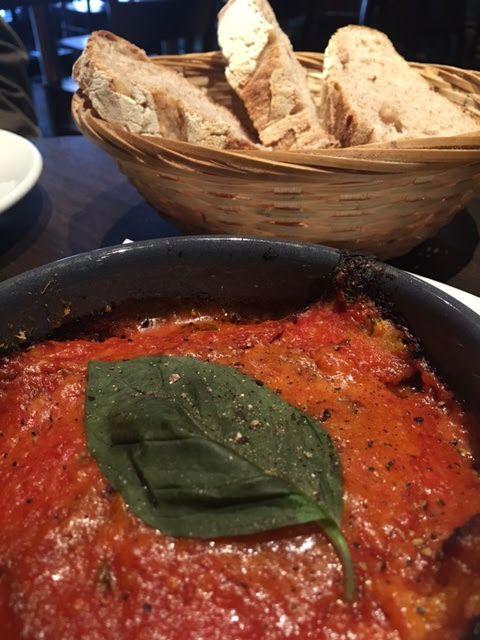 baked aubergine at Donna Margherita