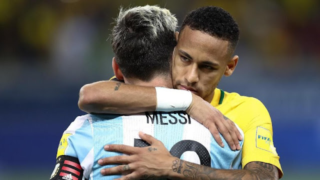 image of Neymar Menyesal Tak Bisa Hadapi Messi