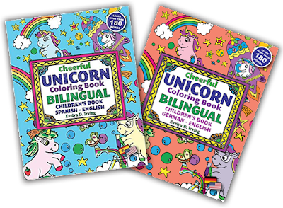 unicorn coloring bilingual spanish english