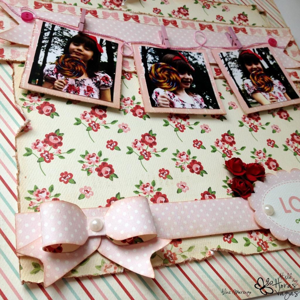 scrap scrapbook scrapbooking baby mine carta bella menina laço