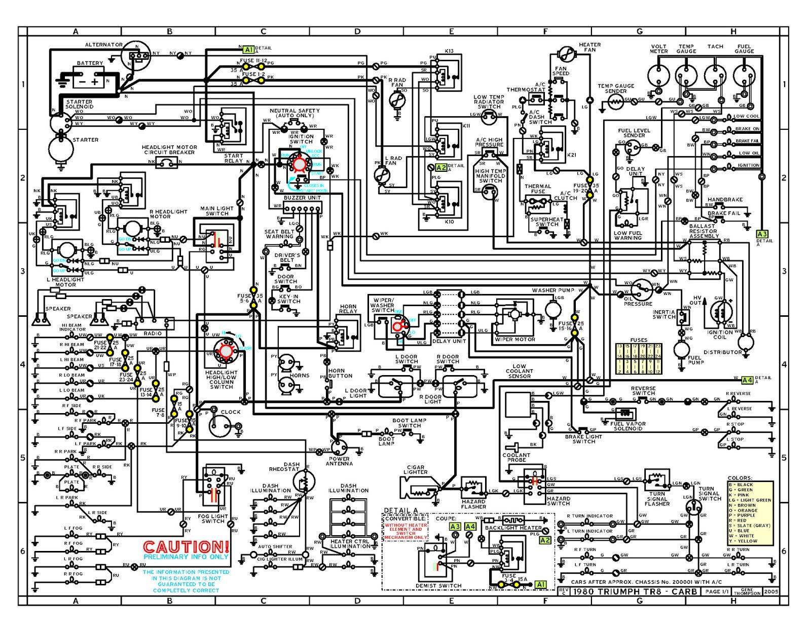 1970 triumph spitfire wiring diagram dolgular com Triumph TR7 Speedometer  Triumph TR7 Engine Triumph Tr4a Wiring Diagram Triumph Tr4 Wiring Diagram