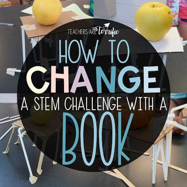 STEM and Reading! Here is a blog post telling ways to use a book as inspiration for a platform challenge! #teachersareterrific
