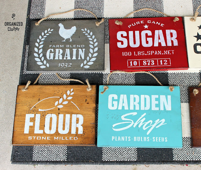 Farmhouse Style Signs with Old Sign Stencils