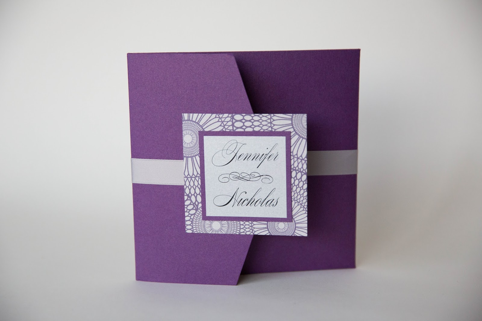 purple wedding invitations baltimore purple and silver design