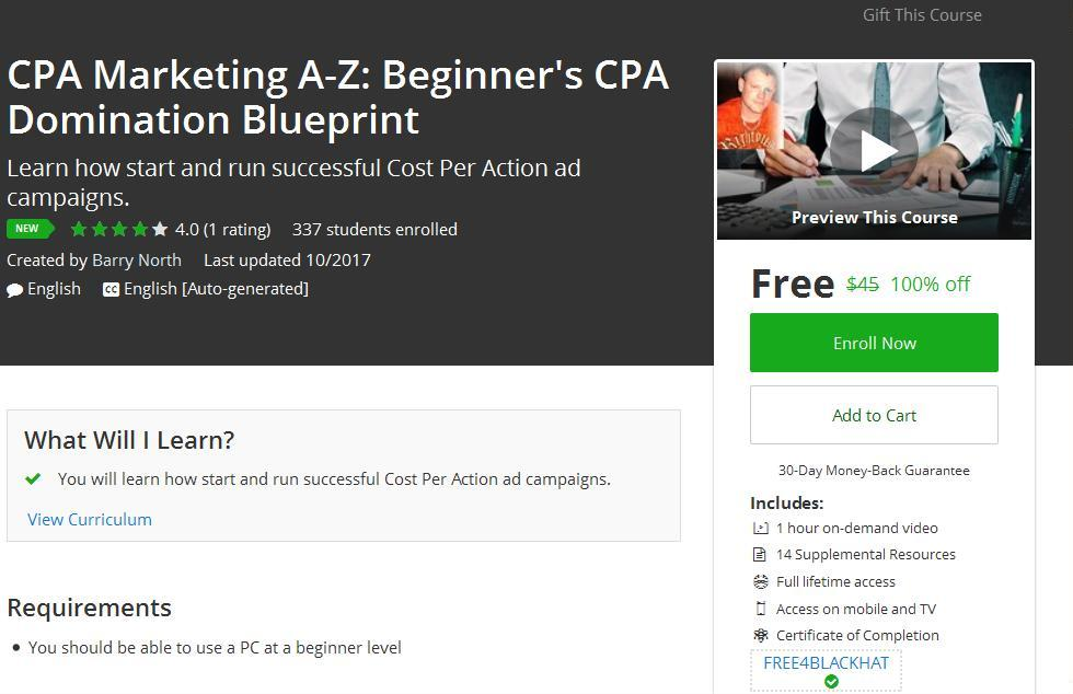 Cpa Marketing A Z Beginner 39 S Cpa Domination Blueprint