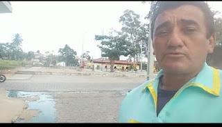 Em Guarabira PB, internauta pede solução da CAGEPA para esgoto á seu Alberto