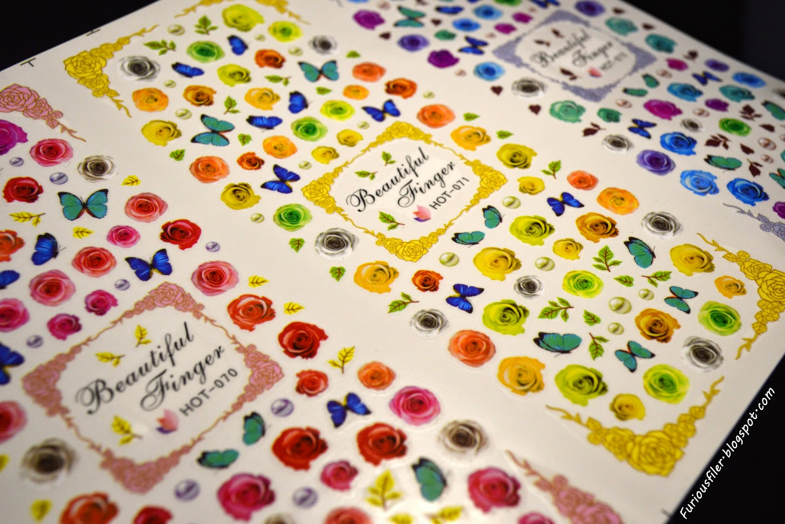 water decals floral bornprettystore