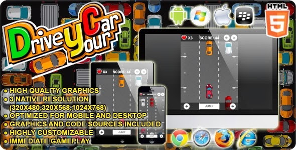 Drive your Car - HTML5 Game - Source Code Aplikasi Android