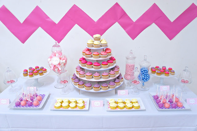 Chevron Wedding Dessert Table