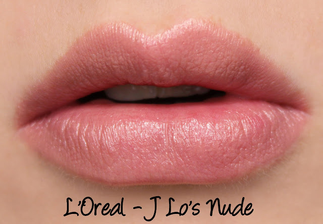 L'Oreal Color Riche Collection Exclusive Lipsticks - J Lo's Nude Swatches & Review