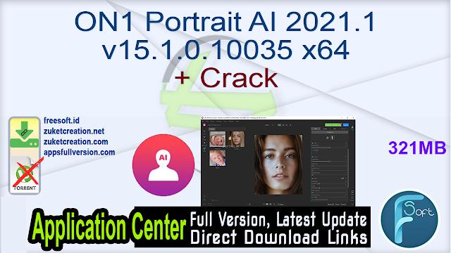 ON1 Portrait AI 2021.1 v15.1.0.10035 x64 + Crack
