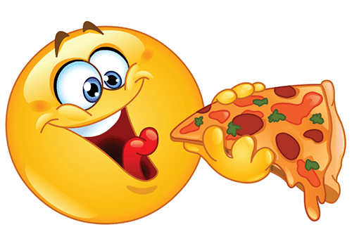 Smiley Eating Pizza