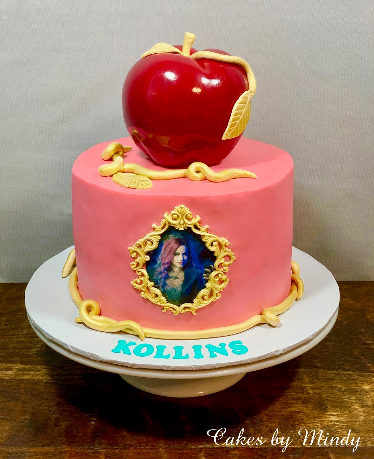Magnificent Cakes By Mindy Descendants Cake Mal 8 And Audrey 8 Funny Birthday Cards Online Inifodamsfinfo