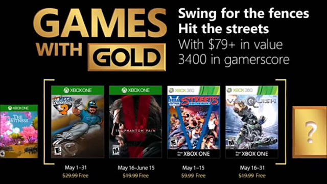 List of the games for the month of May announced for Xbox Live Gold Subscribers