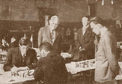 III Campeonato Mundial Universitario de Ajedrez - Uppsala 1956, partida Ghitescu (Rumanía) - Tal (URSS)