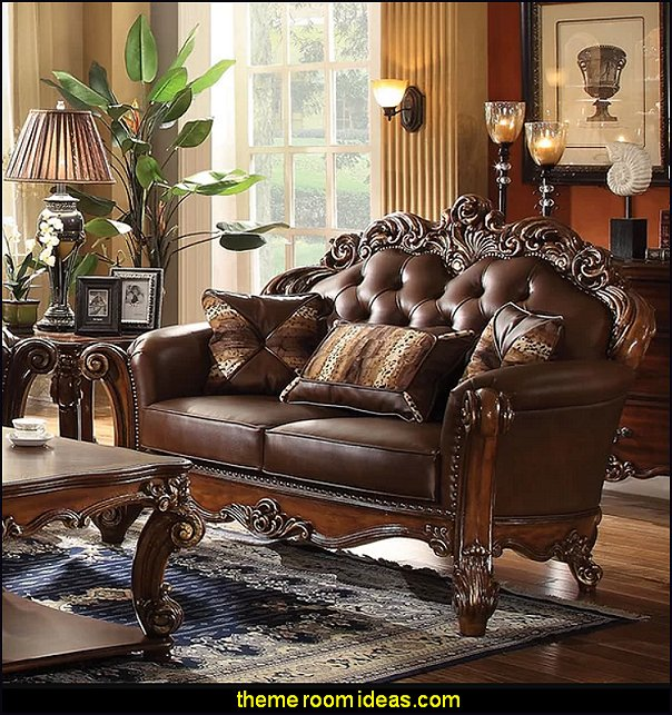 Cherry Welles Loveseat tuscan living room furniture tuscany decor tuscan decorating ideas tuscan home