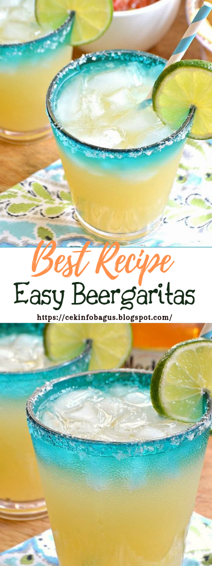 Easy Beergaritas #healthydrink #easyrecipe #cocktail #smoothie