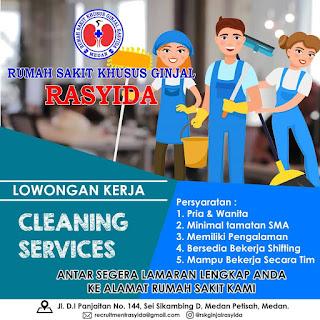 Cleaning Service di Rumah Sakit Khusus Ginjal Rasyida