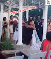 LADY SCATTER WEDDING CEREMONY CLAIMING SHE IS PREGNANT FOR THE GROOM,(VIDEO).