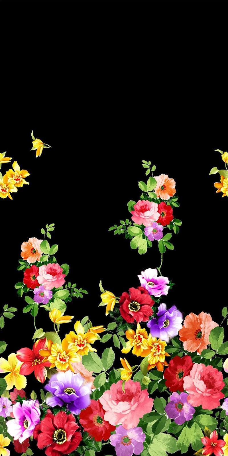 Animal Print Wallpaper Border Painting Flower Design Digital Print 2 Joy Design Studio