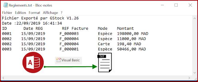 #30 : VBA Access  G.Stock - Exporter vers Fichier Texte