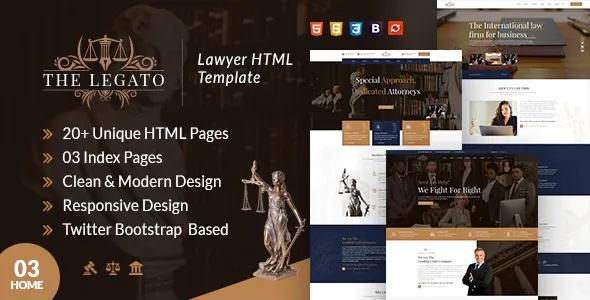 Best Lawyer Website template