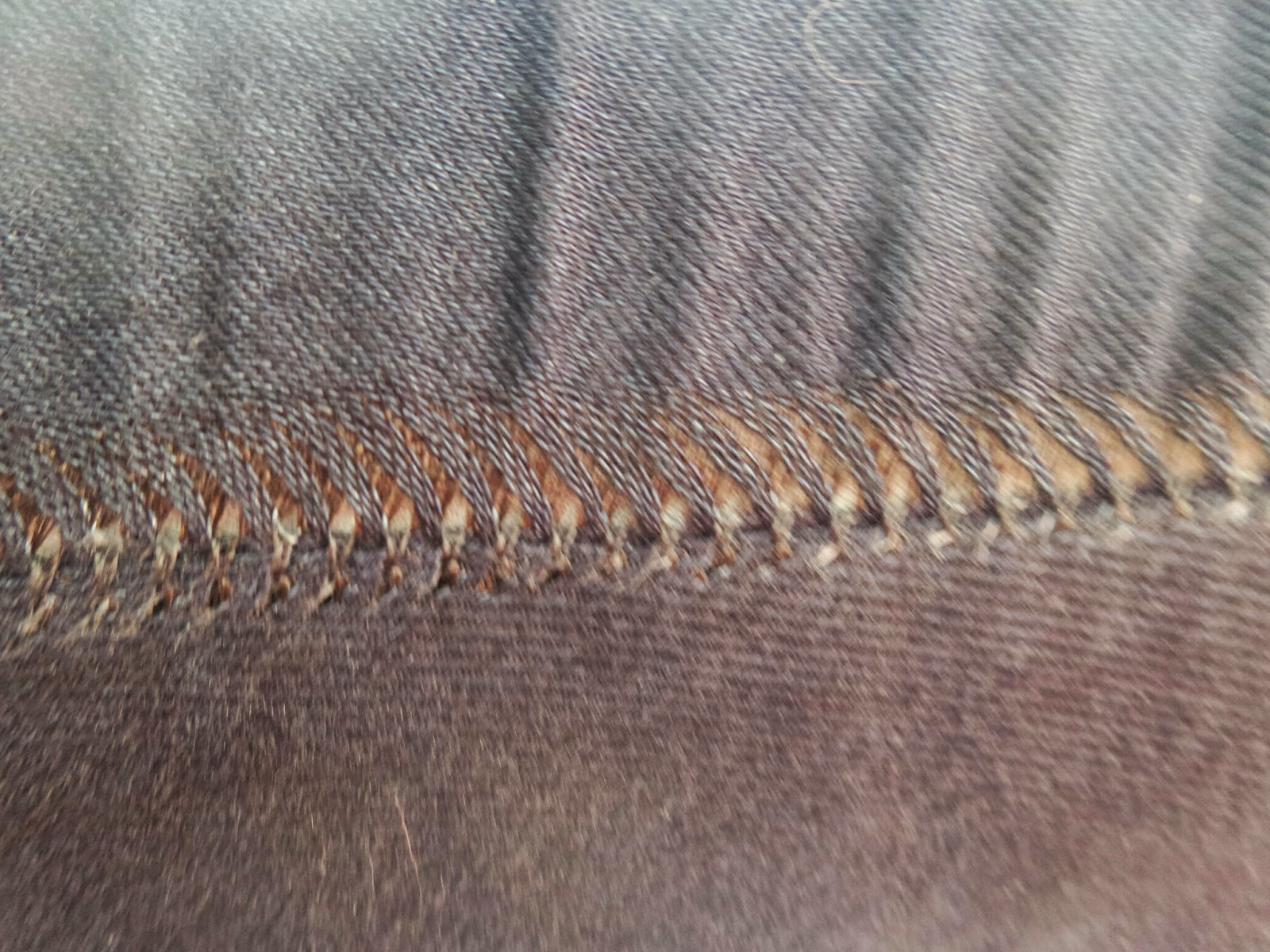 Pulling of the inside seam on PippaD's new jeans
