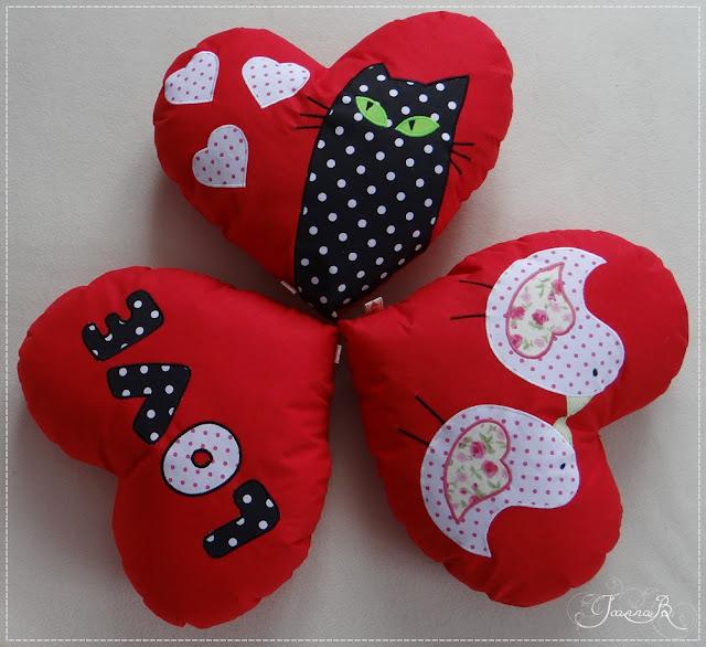 Poduszki Serca Walentynkowe