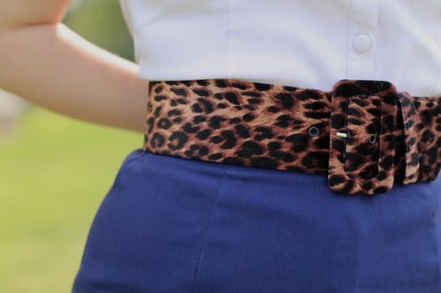 Pinup Girl Couture leopard print waist belt