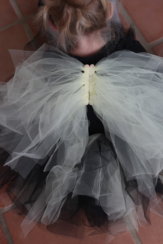 All Yellow Wings & do it yourself as: DIY Tulle Halloween Costume Wings
