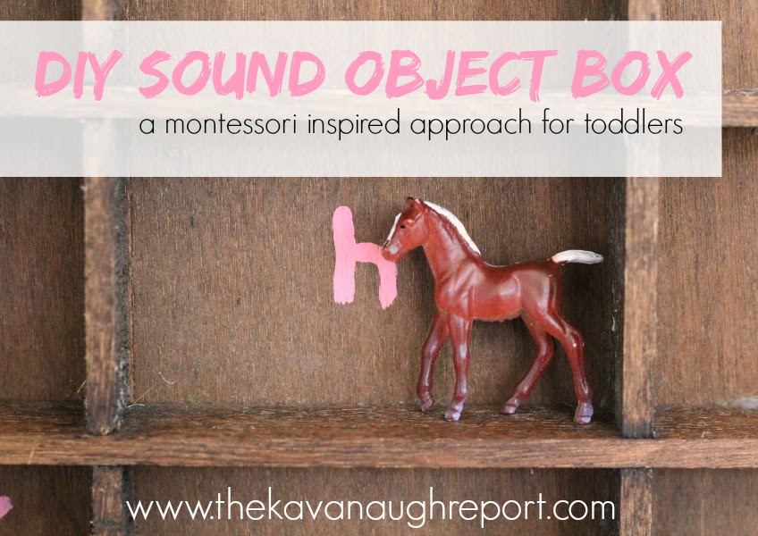 This DIY Montessori sound object box is an easy way for children to practice letter sounds. By matching small objects, which children love, to their letters it reinforces the letter shape and sound.