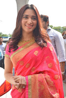 Tamanna Stills in Saree at Johrivaaj Lounge Launch TollywoodBlog
