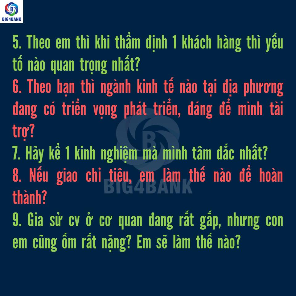 Bộ Full Câu Hỏi Phỏng Vấn Vietinbank