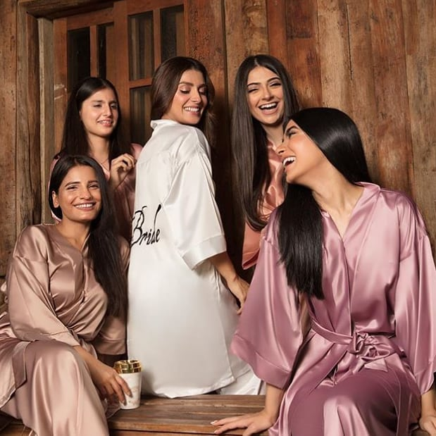 Ayeza Khan Looks Like Moon with Stars in Bridal Shower Photo Shoot