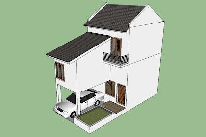 Desain Rumah Minimalis Sederhana 5 x 10 Split Level 2 Lantai 3 Kamar Tidur 2 Kamar Mandi