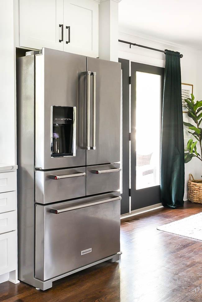 Stainless KitchenAid refrigerator