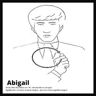 Abigail em Libras