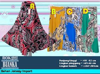 Jual Rok payung Jersey murah ukuran jumbo motif menarik