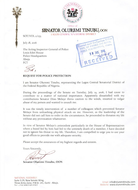 Senator Remi Tinubu requests police protection from Dino Melaye