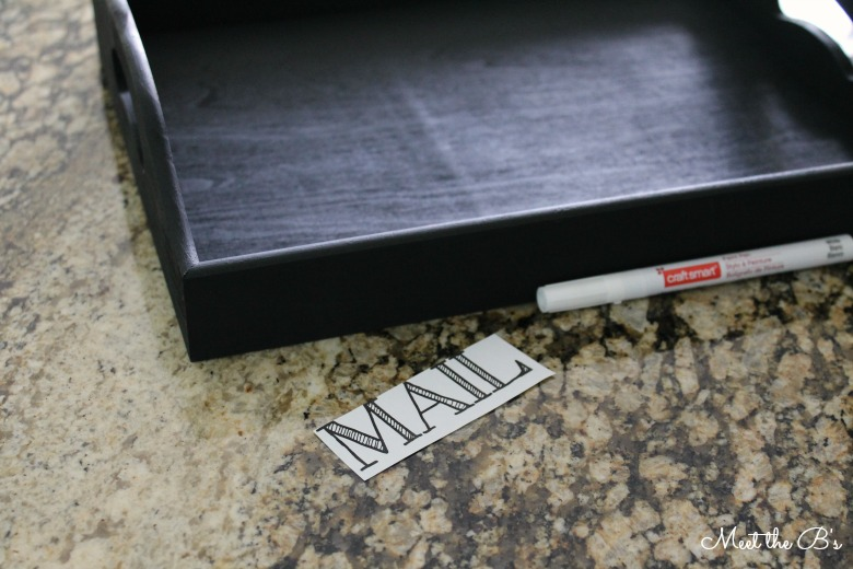 DIY Painted Mail Tray | Meet the B's
