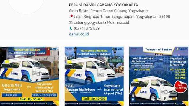 Jadwal Damri Bandara Kulonprogo 2020