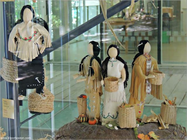 Exhibición del First Nations Garden del Jardín Botánico de Montreal